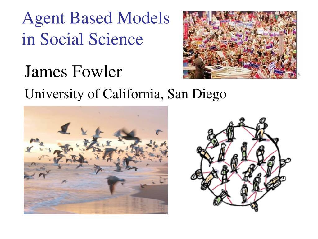 agent based models in social science l.