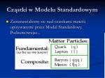 cz stki w modelu standardowym