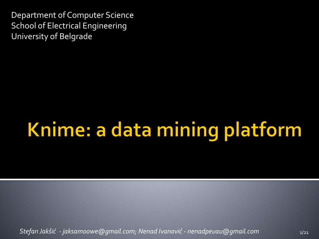 knime a data mining platform l.