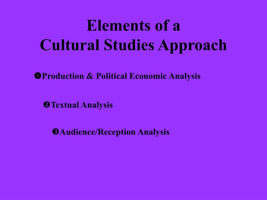 elements of a cultural studies approach l.