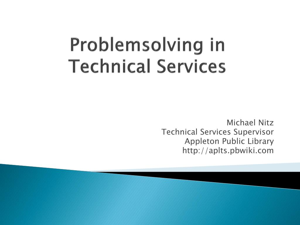 problemsolving in technical services l.