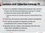 lemnos and cybersec interop tf