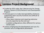 lemnos project background