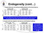 endogeneity cont