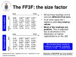the ff3f the size factor