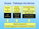 access pathways into service