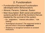 2 functionalism