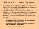 michel s iron law of oligarchy