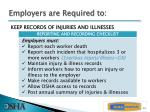 employers are required to