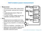 skiff enables power measurement