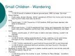 small children wandering