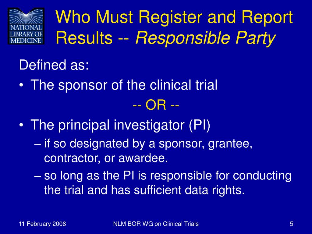 PPT - Clinical Trials Registration and Results Reporting