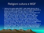 religioni cultura e mgf