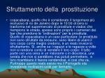 sfruttamento della prostituzione