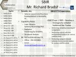 sbir mr richard bradshaw