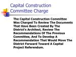 capital construction committee charge