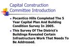 capital construction committee introduction