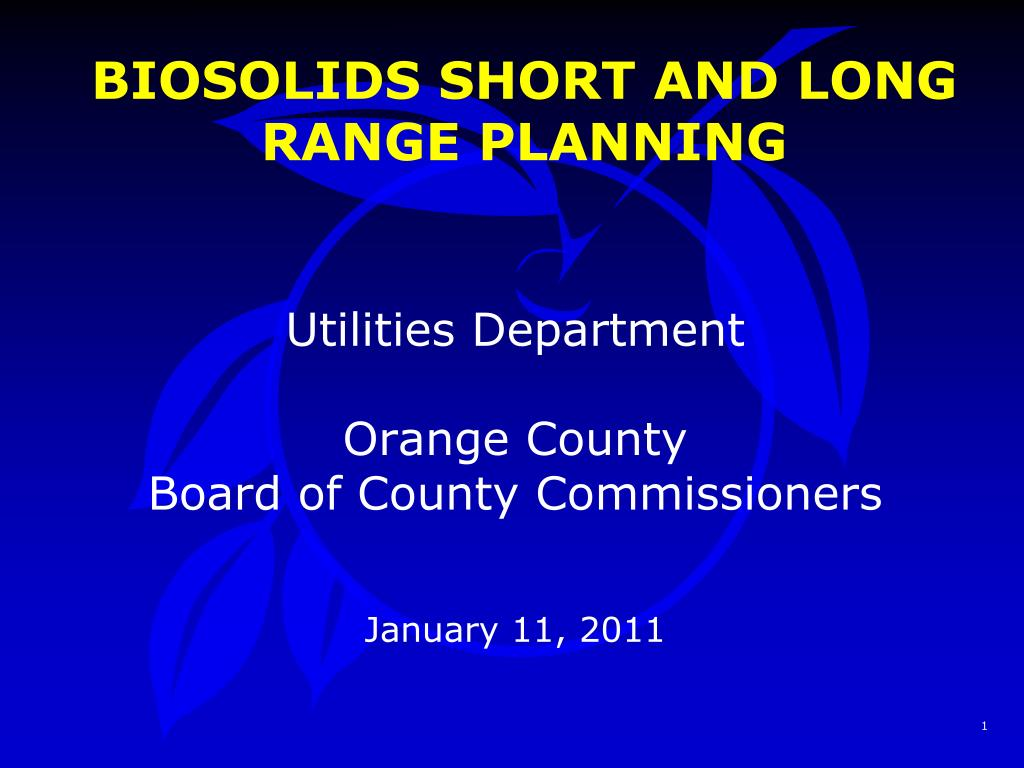 biosolids short and long range planning l.