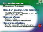 circumferences measurement technique