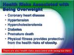 health risks associated with being overweight