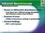 infrared spectroscopy measurement issues