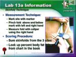 lab 13a information skinfold technique