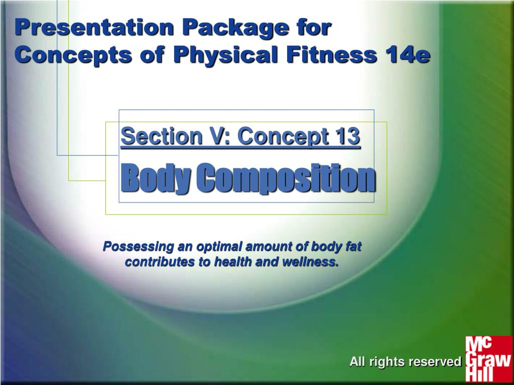 presentation package for concepts of physical fitness 14e l.