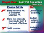 target zone body fat reduction table 3 p 285