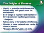 the origin of fatness
