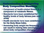understanding interpreting body composition measures