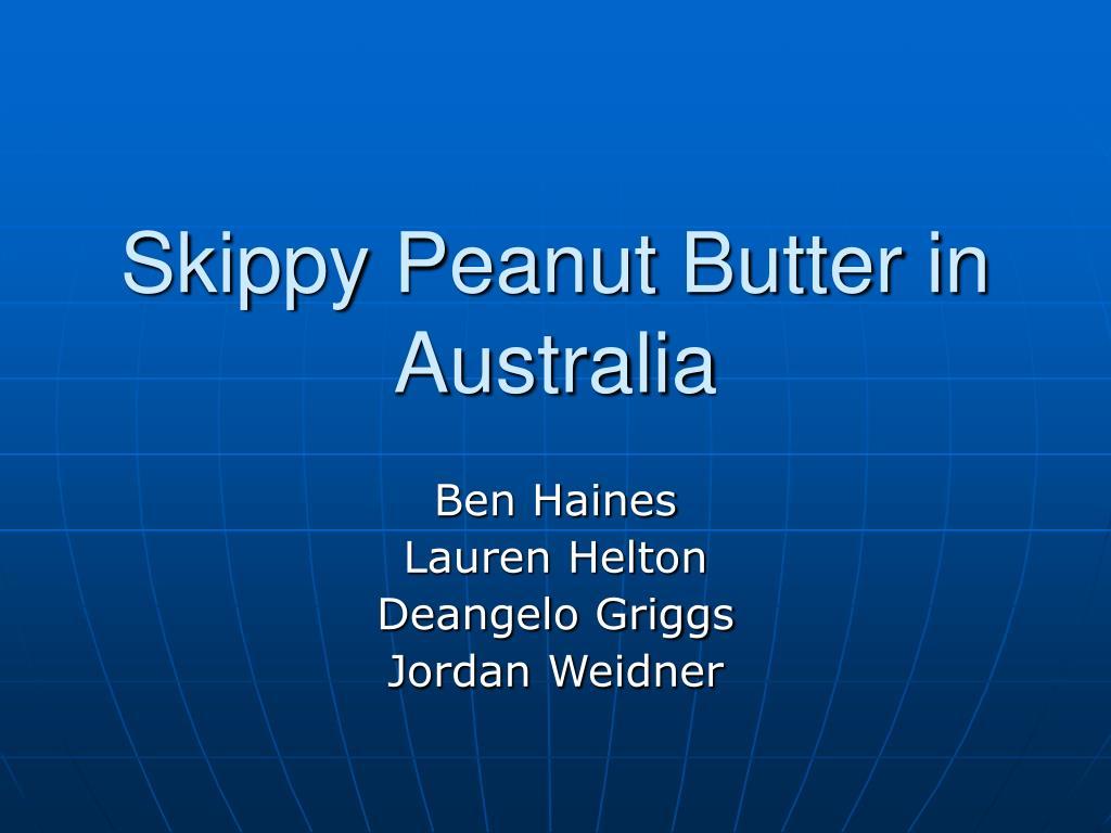 skippy peanut butter in australia l.