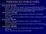 periodes en publicaties