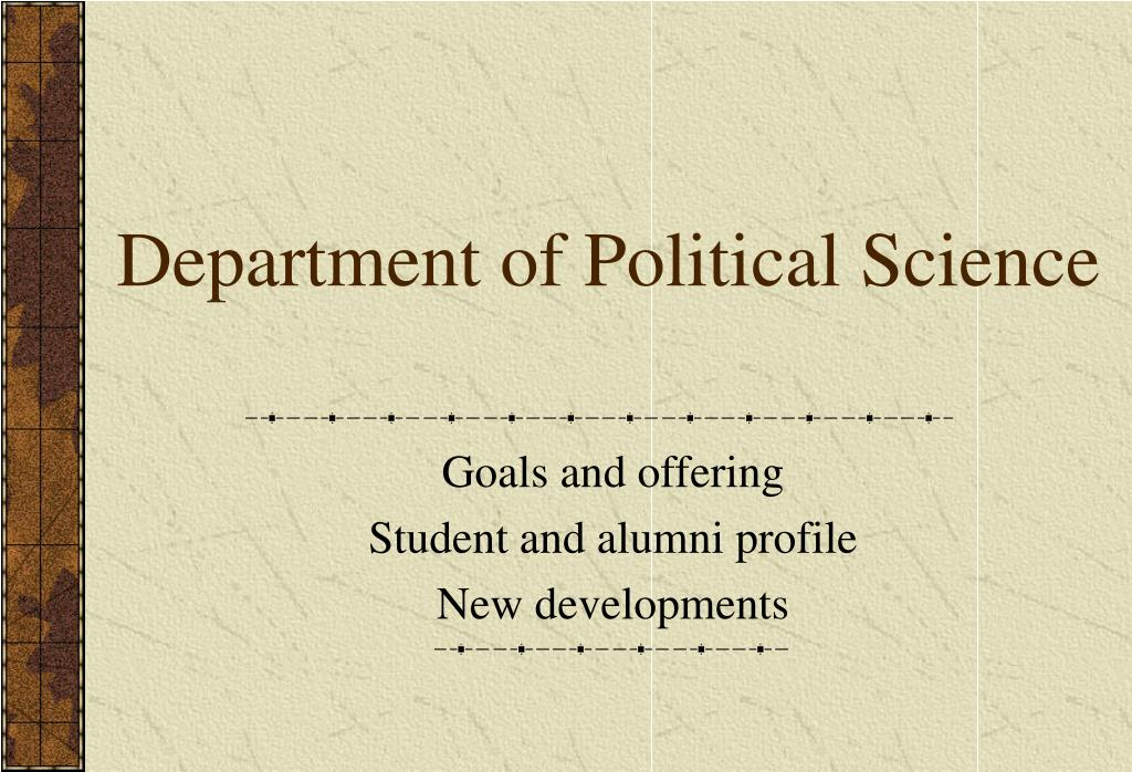 department of political science l.