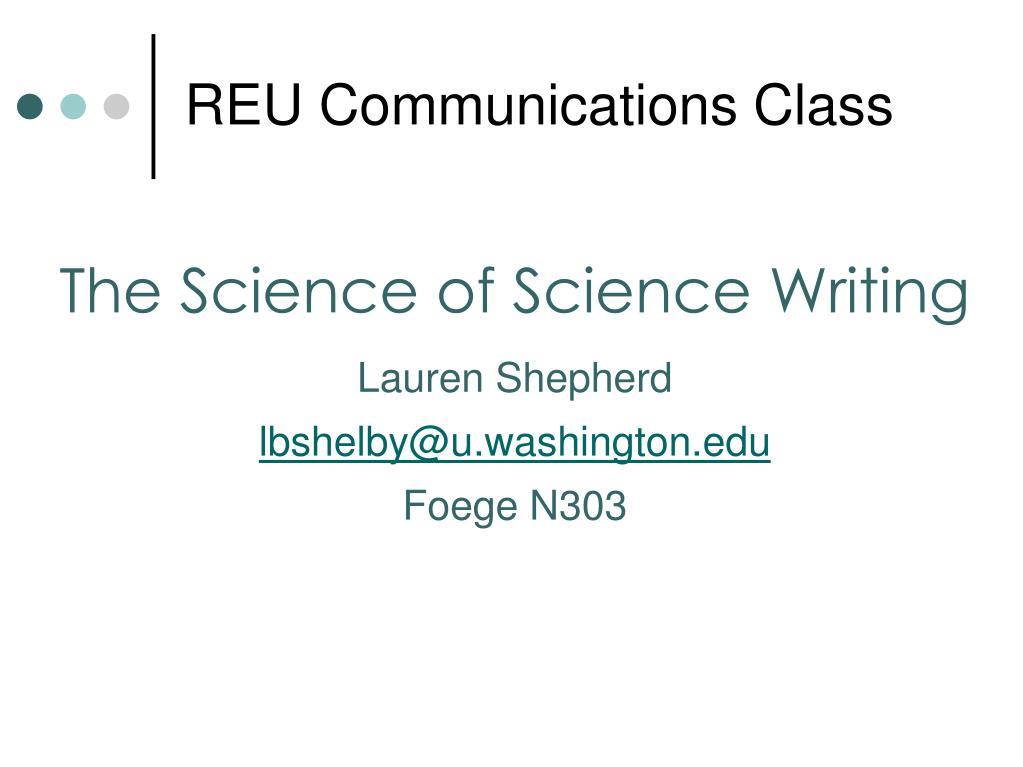 reu communications class l.