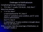 challenges to falsificationism