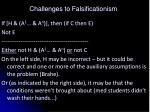 challenges to falsificationism4