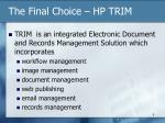the final choice hp trim