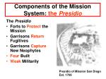 components of the mission system the presidio