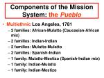 components of the mission system the pueblo14