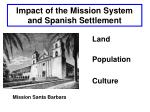 impact of the mission system and spanish settlement