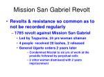mission san gabriel revolt