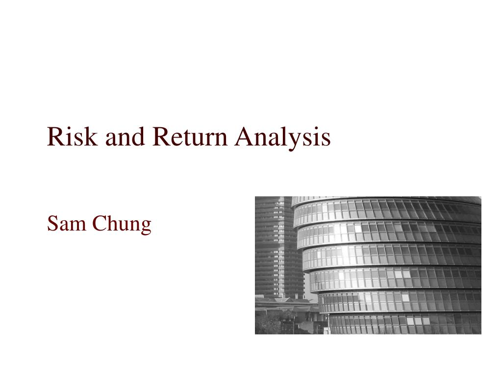 risk and return analysis l.