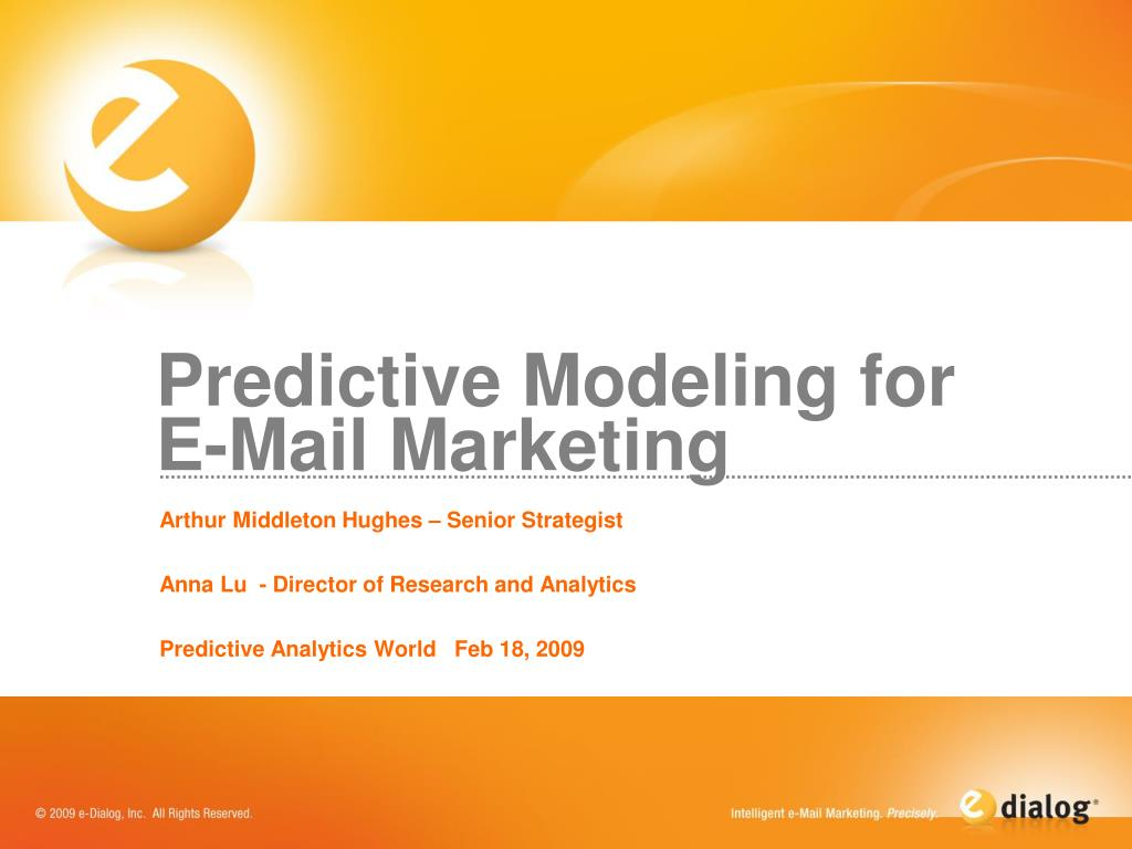 predictive modeling for e mail marketing l.