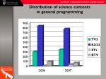 distribution of science contents in general programming