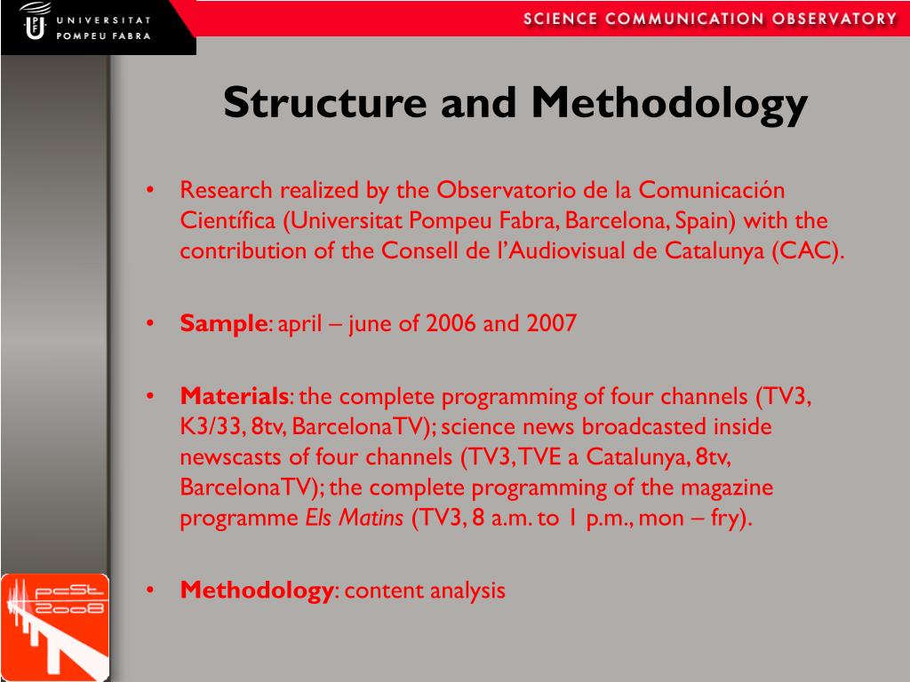 Structure and Methodology