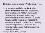 debates surrounding authenticity con