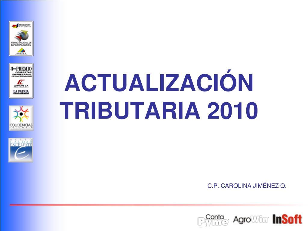 actualizaci n tributaria 2010 l.