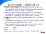 decreto 127 del 21 de enero de 201019