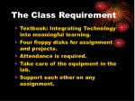 the class requirement