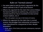 kuhn on normal science